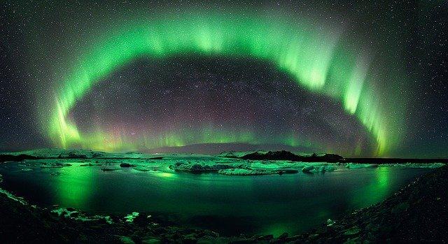 Image of the Aurora Borealis as a symbol of feeling optimistic